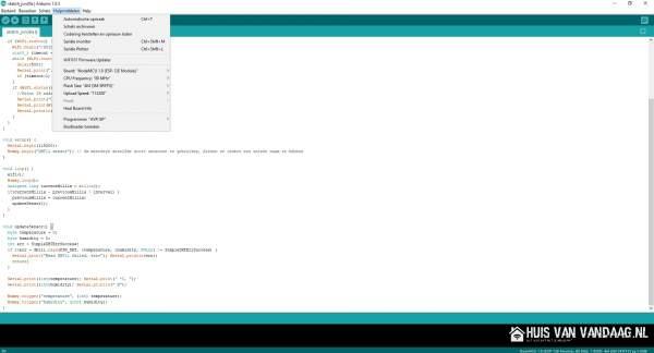 Het juiste NodeMCU board selecteren in Arduino IDE | Huisvanvandaag,nl