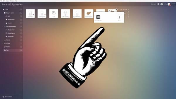 Als alles goed is gegaan verschijnt nu de sensor en kun je deze dus ook via Homey uitlezen | Huisvanvandaag.nl