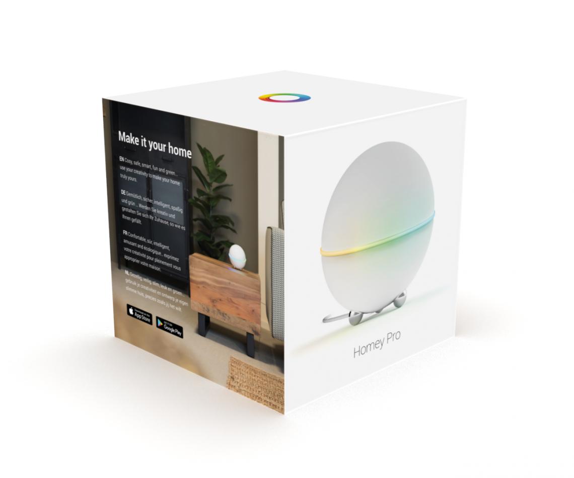 De nieuwe Homey Pro, leverbaar vanaf eind Maart. Met betere specificaties en meer werkgeheugen. | Huisvanvandaag.nl