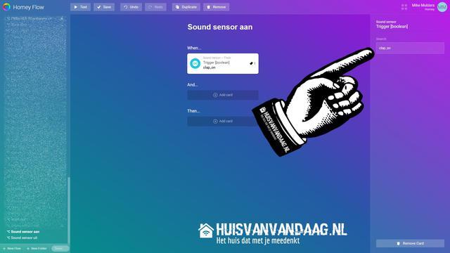 Homeyduino Clapper Switch Flow instellen | Huisvanvandaag.nl